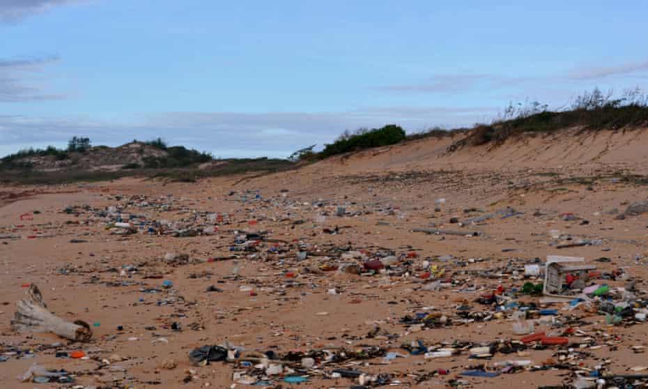 Debris washed up on a remote beach in eastern Arnhem Land