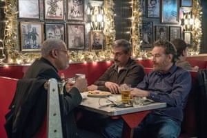 Laurence Fishburne, Steve Carell and Bryan Cranston in Last Flag Flying
