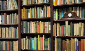 A full bookcase at the Princess Grace Irish Library in Monaco.