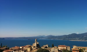 View of Lake Garda from the village of Torri del Benaco.