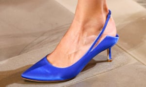 Kitten heels on the catwalk in Vetements Autumn Winter 2016 show in Paris fashion week.
