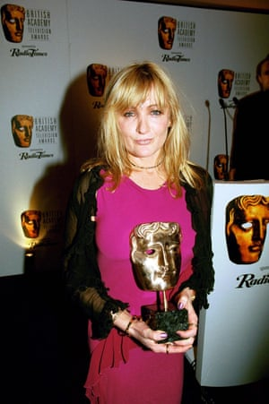 Caroline Aherne with her Bafta for The Royle Family in 2000
