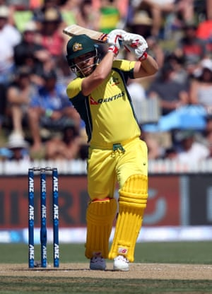 Aaron Finch is in good form for Australia during their run chase at Seddon Park.