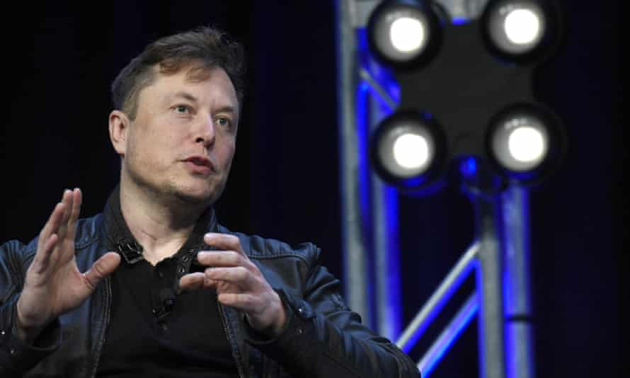 Elon Musk speaks at the Satellite conference in Washington DC, on 9 March.