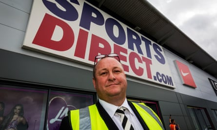 Mike Ashley at Sports Direct, Shirebrook.