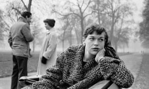 Katharine Whitehorn in London's Hyde Park, February 1956