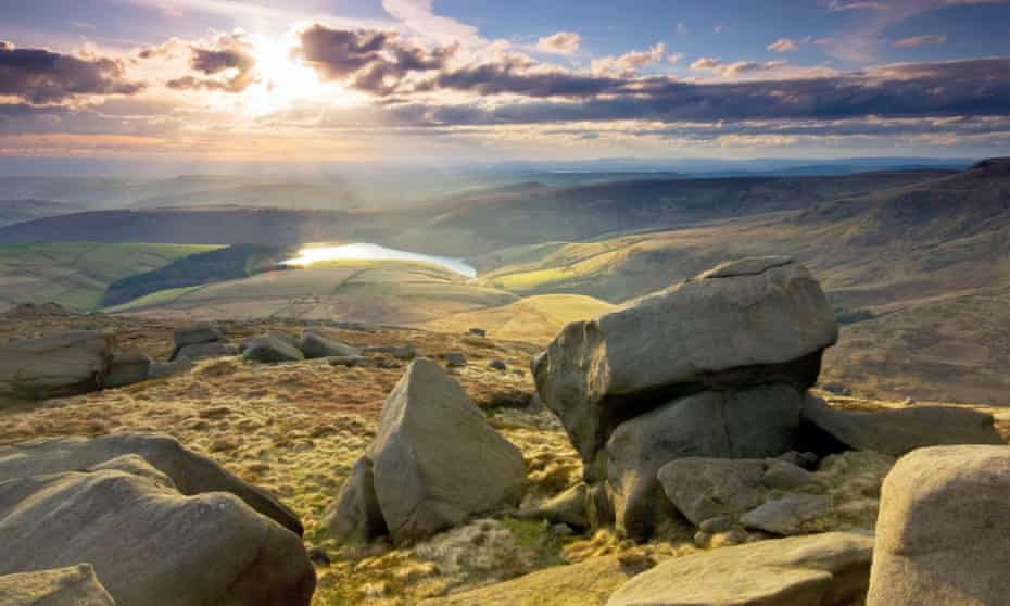 View from Kinder Scout in the Peak District national park.