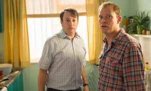 Robert Webb, right, and David Mitchell in Peep Show, 2015