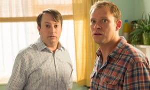 David Mitchell as Mark and Robert Webb as Jeremy in Peep Show