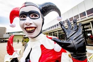 A cosplayer attends the Heroes Dutch Comic Con at Jaarbeurs