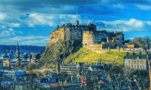 Edinburgh castle and houses