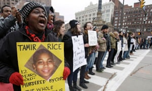 Demonstrators blocked Public Square last week to protest against the killing of Tamir Rice.