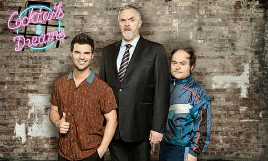 Taylor Lautner, Greg Davies and Kenneth Collard in Cuckoo.