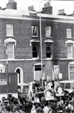 Black People's Day of Action, March 1981, protesting against the house fire in New Cross, Deptford that claimed 13 young Black lives.