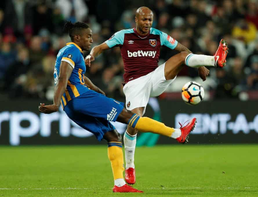 Omar Beckles, left, in action against West Ham in the FA Cup in January.