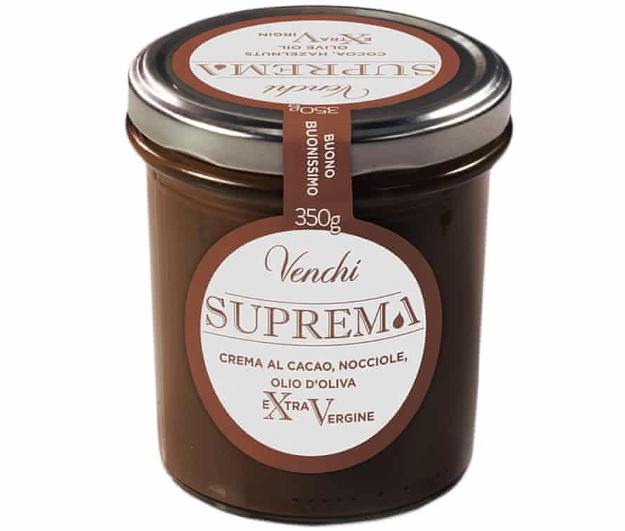 A jar of  Venchi's Suprema Extra Vergine chocolate spread