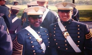 In a 1998 family photo provided by Sakima Brown, Brown, left, and her roommate Amy Thomas pose on their graduation day.