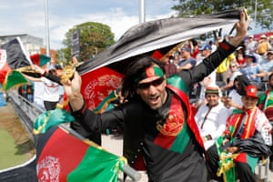 Afghanistan fans enjoy themselves.