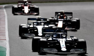 Lewis Hamilton leads the Spanish Grand Prix last weekend.