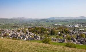 Kendal: the lush green fields of the countryside are never far from sight.