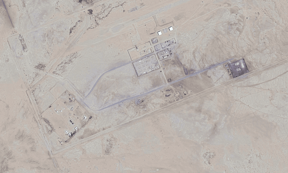 An image from Google Earth showing Airbase 201.