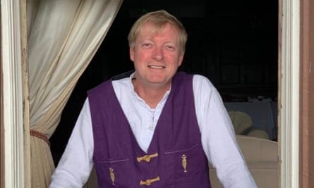 Tom Lishman, pictured at an event in the UK in July 2018, wearing a Tolemac waistcoat.