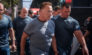 Arnold Schwarzenegger is seen at the Arnold Classic Africa, at the Sandton Convention Centre in Johannesburg.