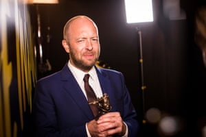 John Tiffany with his best director Olivier award for Harry Potter and the Cursed Child