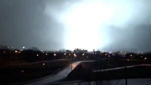 Lightning strikes in Nashville, early on Tuesday morning.