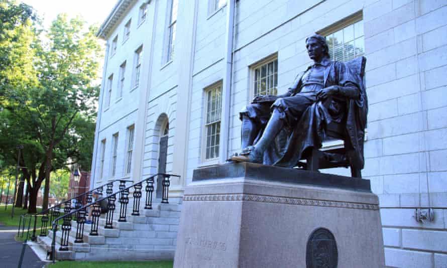 john harvard statue on harvard campus