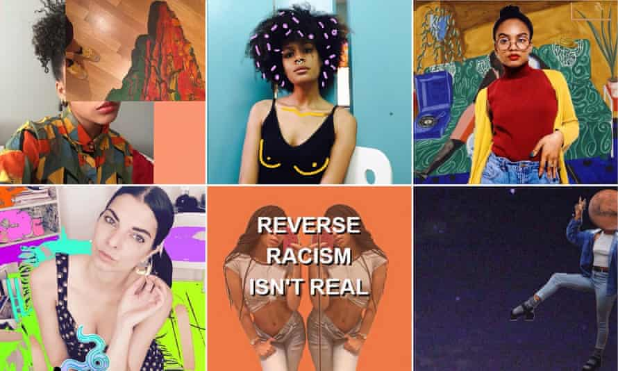 A snapshot of visual mashups via the Sensitive Black Person Tumblr; top left, Hunger Games star Amandla Stenberg's contribution; top right, Sensitive Black Person co-founder Mars.