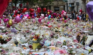 Floral tributes in St Ann's Square