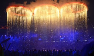 The London Olympics opening ceremony on 27 July 2012.