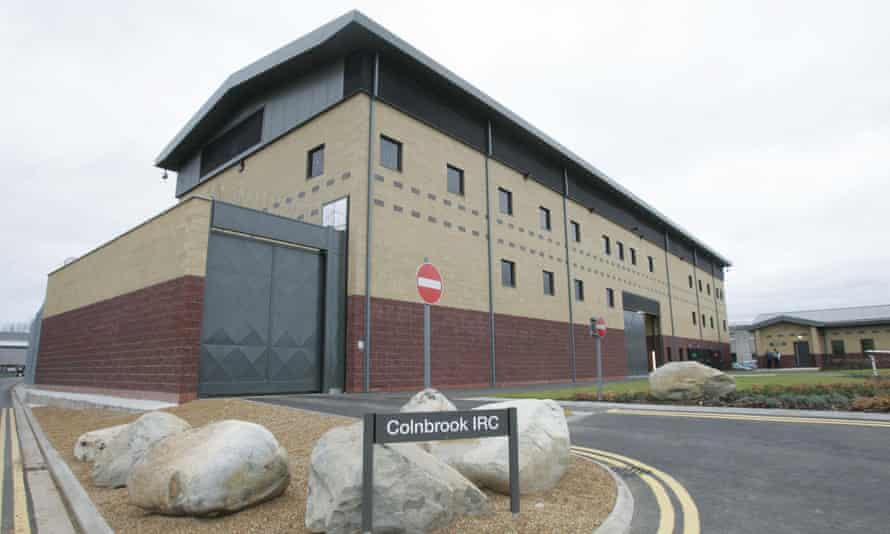 Colnbrook immigration removal centre in West Drayton, London.