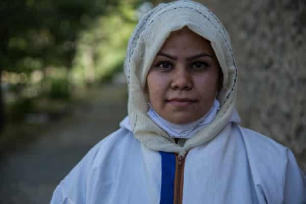 Nilab Sadat, 27, is one of the women working towards preventing the spread of Covid-19.