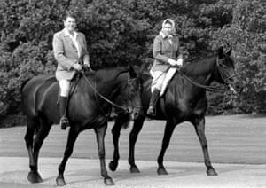 Riding through Windsor Home Park with Ronald Reagan in 1982