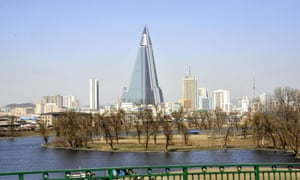 Late checkout … Pyongyang's unfinished Ryugyong hotel.