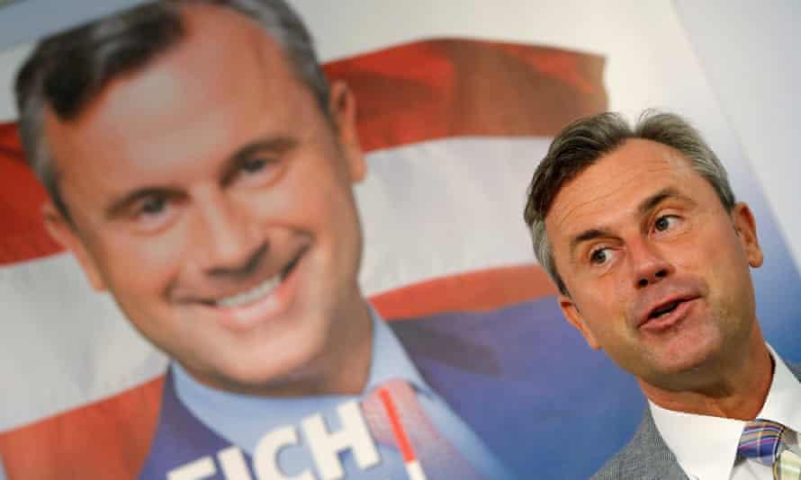 Norbert Hofer of Austria's Freedom party