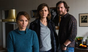 Marie Richardson (centre) is a seductive character in Before We Die, Channel 4
