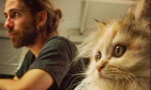 Oliver Wainwright and a cat