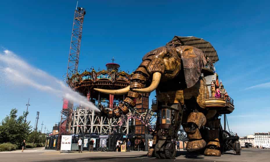 The robotic elephant ride at Les Machines de L'ile Nantes.