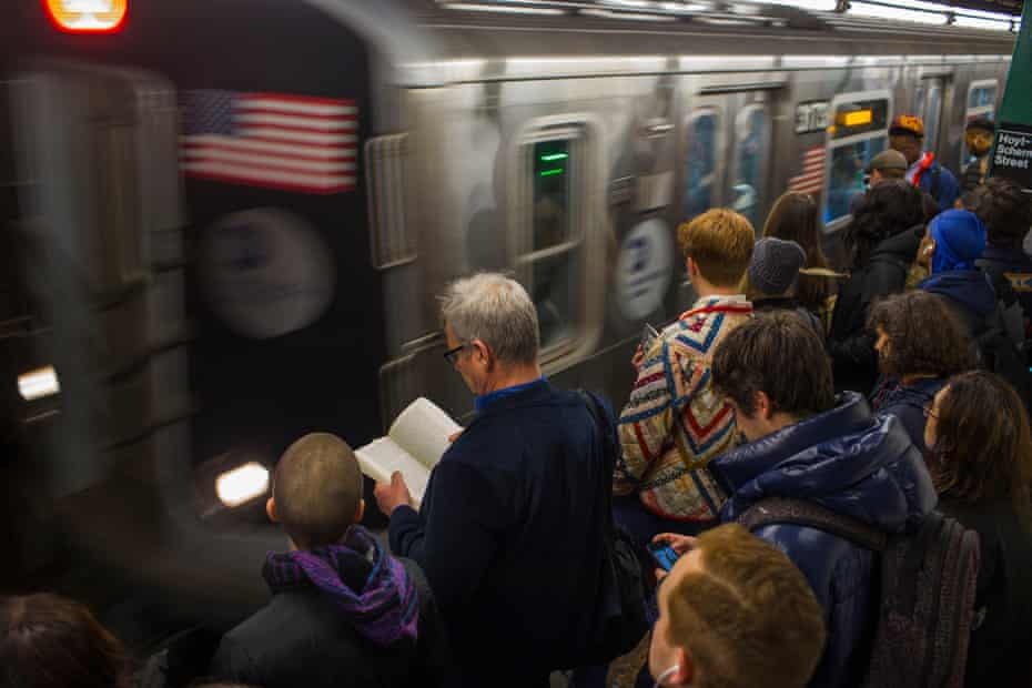 Delayed and overcrowded trains in Brooklyn.