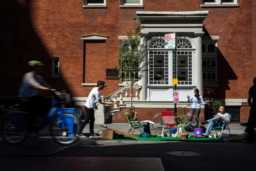 Park(ing) Day in New York city.