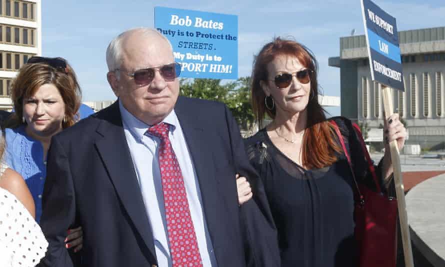 Robert Bates arrives for his arraignment in Tulsa, Oklahoma.