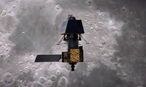 An artist's impression of India's Chandrayaan-2 in orbit.
