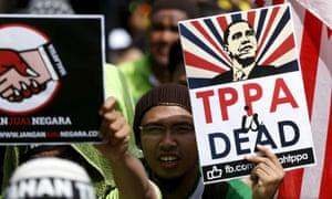 Anti-TPP protestors in Malaysia