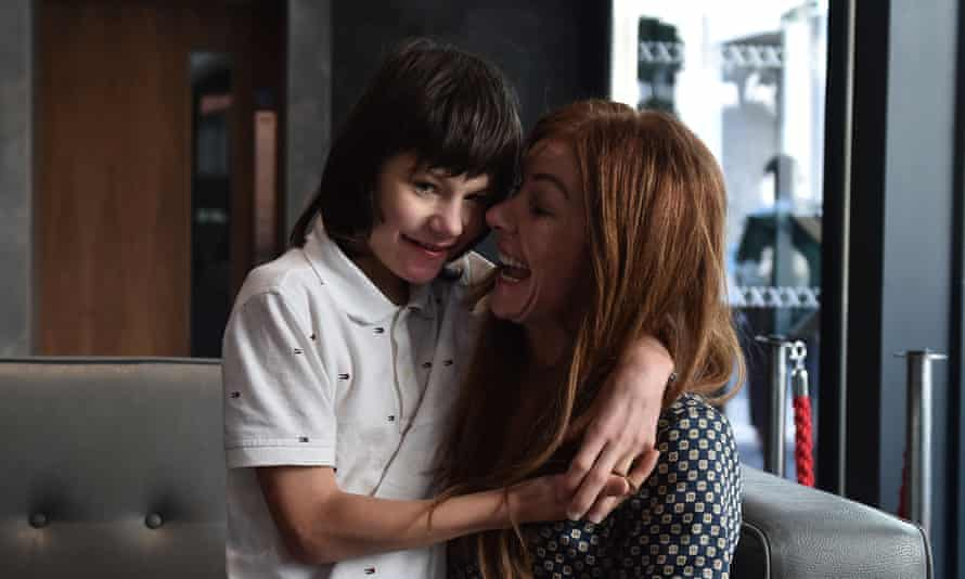 Billy Caldwell with his mother, Charlotte