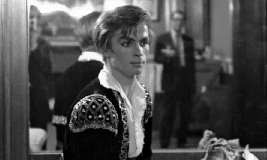 Rudolf Nureyev's photographed in his US stage debut performing with Ruth Page's Chicago Opera Ballet at the Brooklyn Academy of Music, March 1962.