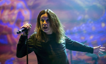 Black Sabbath singer Ozzy Osbourne on stage during The End tour this month.