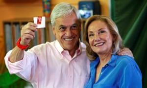 Sebastián Piñera  and Cecilia Morel